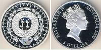 5 Dollar Australia (1939 - ) Silver Elizabeth II (1926-)