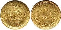 2.5 Peso United Mexican States (1867 - ) Gold