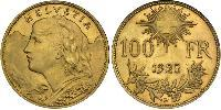 100 Franc Switzerland Oro