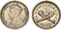 2 Threepence New Zealand Silver George V of the United Kingdom (1865-1936)
