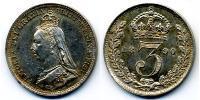 Threepence Regno Unito di Gran Bretagna e Irlanda (1801-1922) Argento Vittoria (1819 - 1901)