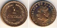 1 Centavo El Salvador Copper plated steel