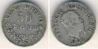 50 Centesimo Kingdom of Italy (1861-1946) Silver