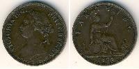 1 Фартінг Велика Британія (1707 - ) Мідь Вікторія (1819 - 1901)