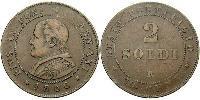 2 Soldo Vatikan (1926-) Kupfer Pius IX (1792- 1878)