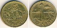 5 Cent Barbados Brass