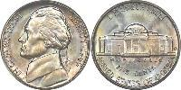 1 Nickel / 5 Cent USA (1776 - ) Copper-Nickel Thomas Jefferson (1743-1826)
