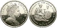 1 Crown Gibraltar Cuivre-Nickel Elizabeth II (1926-)