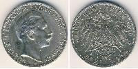 3 Mark Reino de Prusia (1701-1918) Plata 