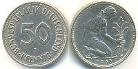50 Pfennig Geschichte der Bundesrepublik Deutschland (1949-1990) Kupfer-Nickel