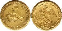 4 Escudo Centralist Republic of Mexico (1835 - 1846) Gold