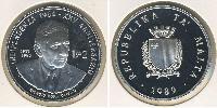 2 Lira Malta Silver
