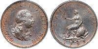 1/2 Пені Сполучене королівство Великобританії та Ірландії (1801-1922)  Георг III (1738-1820)