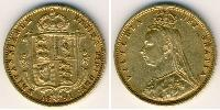 1/2 Sovereign Reino Unido (1707 - ) Oro