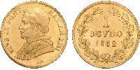 1 Scudo Papal States (752-1870) Gold Pope Pius IX (1792- 1878)
