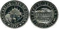 1000 Peseta Kingdom of Spain (1976 - ) Silver