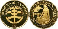 500 Peso Republic of Colombia (1886 - ) Gold
