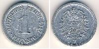 1 Pfennig Germany Aluminium