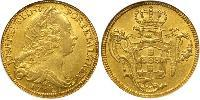 6400 Reis Brazil Gold Joseph I of Portugal (1714-1777)