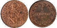 1 Baiocco Stato Pontificio (752-1870) Rame
