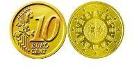 10 Eurocent Portuguese Republic (1975 - ) Nordic gold