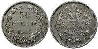 50 Penny Russian Empire (1720-1917) / Finland (1809 - 1917) Silver