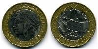 1000 Lira Italy Bimetal