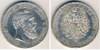 5 Марка Пруссия (королевство) (1701-1918) Серебро