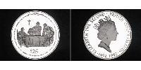 25 Dollar Virgin Islands Silver Elizabeth II (1926-) / Christopher Columbus (1451 - 1506)