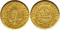 1 Escudo Bolivia (1825 - ) Oro