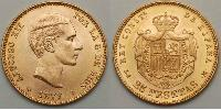 25 Peseta Spain Gold Alfonso XII of Spain (1857 -1885)