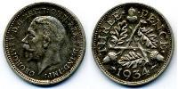1 Threepence United Kingdom (1922-) Silver George V of the United Kingdom (1865-1936)