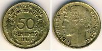 50 Centime French Third Republic (1870-1940)  Aluminium-Bronze
