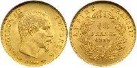 10 Franc Second French Empire (1852-1870) Gold Napoleon III (1808-1873)