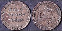 1/2 Penny Île de Man