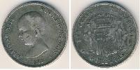 5 Peso Kingdom of Spain (1874 - 1931) Silver