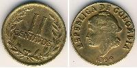 2 Centavo Republic of Colombia (1886 - ) Brass