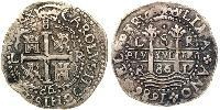 8 Real Peru Silver Charles II of Spain (1661-1700)