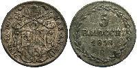 5 Baiocco Estados Pontificios (752-1870) Plata Pío IX (1792- 1878)