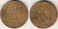 10 Centime Second French Empire (1852-1870) Bronze Napoleon III (1808-1873)