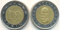100 Forint Hungría (1989 - ) Brass plated steel