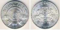 10 Dollar Singapore Silver