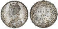 1 Rupee Raj Britannico (1858-1947) Argento Vittoria (1819 - 1901)