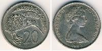 20 Cent New Zealand Copper-Nickel