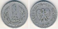 1 Zloty Pologne Aluminium
