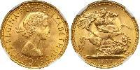 1 Sovereign United Kingdom (1922-) Gold Elizabeth II (1926-)