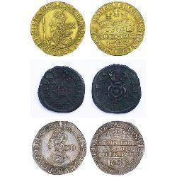 Charles I of England (23) coins - spa1