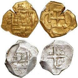 Spanish cob coins (1572-1773)