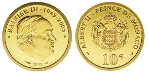 10 Euro Monaco Or