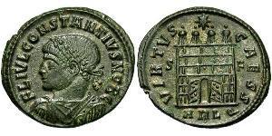 1 Follis /  AE3 Empire romain d